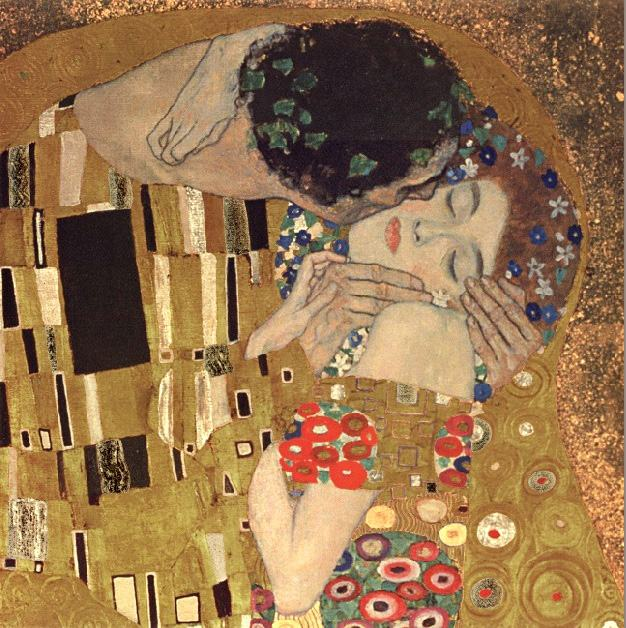 Gustav Klimt the kiss detail