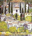 Gustav Klimt Canvas Paintings - Chiesa a Cassone Sul Garda