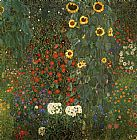 Gustav Klimt Country Garden with Sunflowers painting