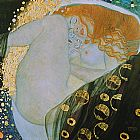 Gustav Klimt Canvas Paintings - Danae