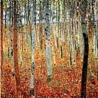 Famous Trees Paintings - Forest of Beech Trees