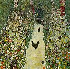 Famous Path Paintings - Garden Path with Chickens