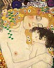 Gustav Klimt Famous Paintings - Mother and Child detail from The Three Ages of Woman