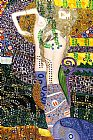 Gustav Klimt Famous Paintings - Sea Serpents