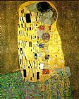 Gustav Klimt Famous Paintings - The Kiss (Le Baiser _ Il Baccio)
