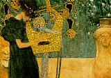 Gustav Klimt The Music (gold foil) painting