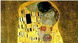Gustav Klimt The kiss cropped painting