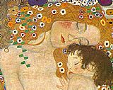 Gustav Klimt Famous Paintings - Three Ages of Woman - Mother and Child (Detail)