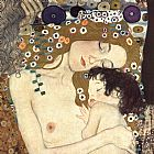 Gustav Klimt Three Ages of Woman - Mother and Child (detail II) painting