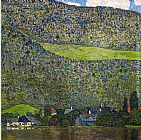 Gustav Klimt Unterach on Lake Attersee, Austria painting