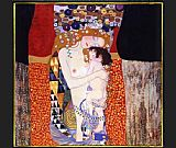Gustav Klimt Famous Paintings - mother and child
