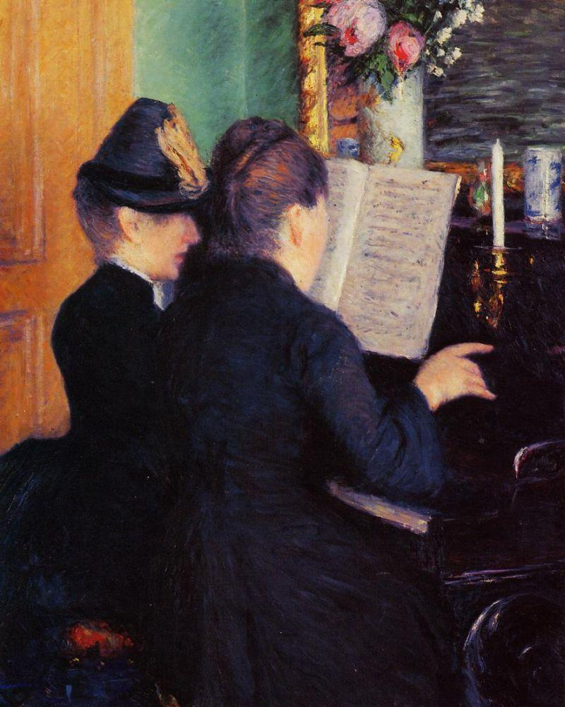 Gustave Caillebotte The Piano Lesson