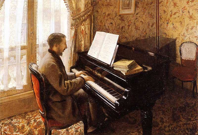 Gustave Caillebotte Young Man Playing the Piano