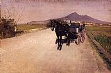 Gustave Caillebotte Canvas Paintings - A Road Near Naples