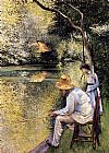 Gustave Caillebotte Fishing painting