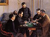 Gustave Caillebotte Canvas Paintings - Game of Bezique