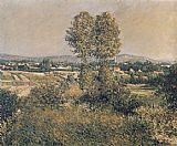 Gustave Caillebotte Landscape at Argenteuil painting