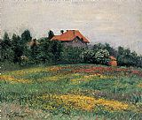 Gustave Caillebotte Canvas Paintings - Norman Landscape