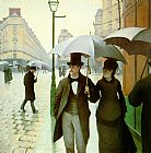 Famous Street Paintings - Paris Street rainy weather