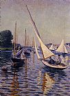 Gustave Caillebotte Canvas Paintings - Regatta at Argenteuil