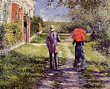 Gustave Caillebotte Canvas Paintings - Rising Road