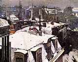 Famous Snow Paintings - Rooftops Under Snow