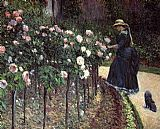 Gustave Caillebotte Wall Art - Roses, Garden at Petit Gennevilliers