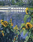 Gustave Caillebotte - Sunflowers on the Banks of the Seine