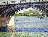 Gustave Caillebotte Wall Art - The Argenteuil Bridge and the Seine