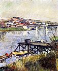 Gustave Caillebotte Wall Art - The Argenteuil Bridge