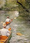 Gustave Caillebotte Wall Art - The Canoes