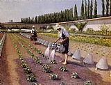 Gustave Caillebotte Wall Art - The Gardeners