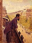 Gustave Caillebotte Wall Art - The Man on the Balcony