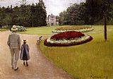 Gustave Caillebotte Wall Art - The Park on the Caillebotte Property at Yerres