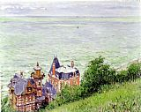 Gustave Caillebotte Villas at Trouville painting