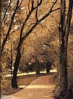 Gustave Caillebotte Yerres, Path Through the Old Growth Woods in the Park painting