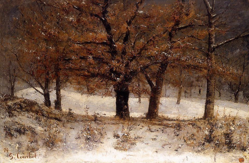 Gustave Courbet Landscape with snow