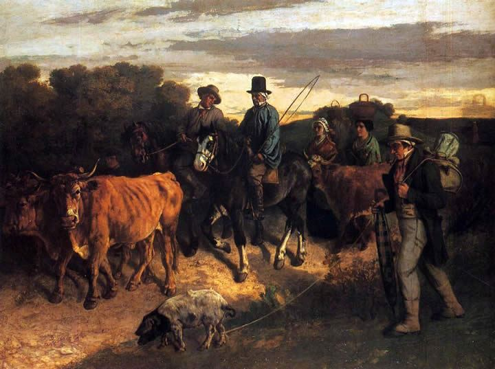 Gustave Courbet The Peasants of Flagey Returning from the Fair_ Ornans