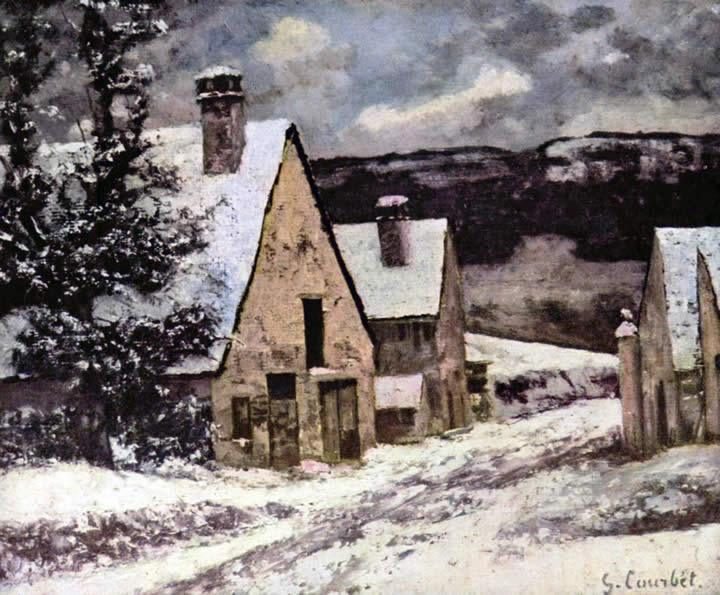 Gustave Courbet Village at winter