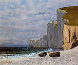 Gustave Courbet A Bay with Cliffs painting