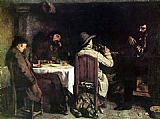 Gustave Courbet After Dinner at Ornans painting