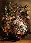 Gustave Courbet Bouquet of Flowers in a Vase painting