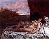 Gustave Courbet Femme Nue Endormie painting