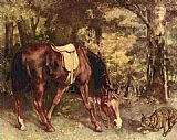 Forest Canvas Paintings - Horse in the forest