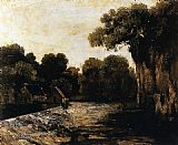 Gustave Courbet Locks on the Loue painting