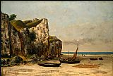 Gustave Courbet Canvas Paintings - Plage de Normandie