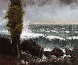 Gustave Courbet Seascape_ the Poplar painting