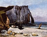 Gustave Courbet The Cliff at Etretat painting