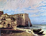 Storm Canvas Paintings - The Cliffs of tretat After the Storm