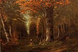 Forest Canvas Paintings - The Forest in Autumn